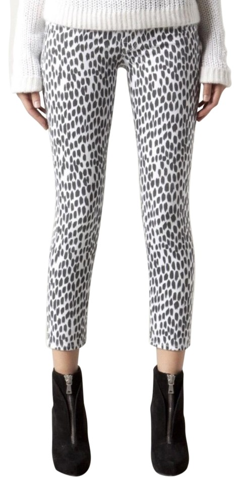 fdefc4fd9a268 Mother High Waisted Looker Crop Cheetah Sz26 Skinny Jeans Size 26 (2 ...