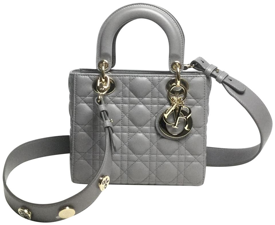 Dior My Lady Dior Iron Grey Leather Shoulder Bag - Tradesy b13a9205911ef