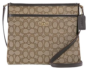 Coach File Black/Smoke F29960 Silver Hardware Cross Body Bag
