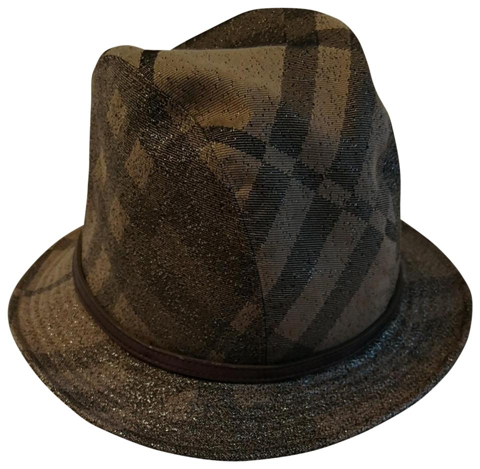 Burberry Silver Glitter Tones Add To Traditional Colors Bucket Hat ... 46d60b37ff4