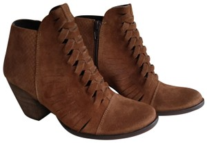 Free People Ankle Suede Brown Boots