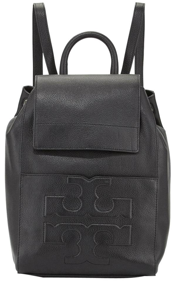 63b0a667180 Tory Burch Bombe T Flap Shoulder Navy Leather Backpack - Tradesy
