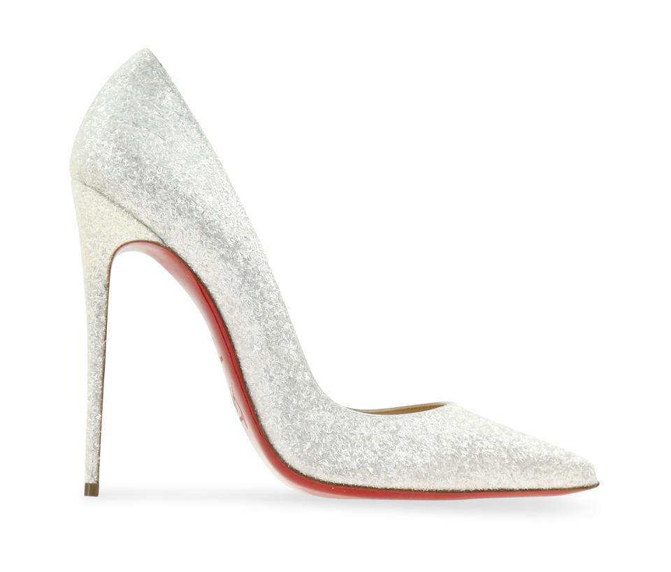 reputable site c1b69 6aed2 Christian Louboutin White So Kate 120mm Glitter Givre Pumps Size EU 41  (Approx. US 11) Regular (M, B) 41% off retail