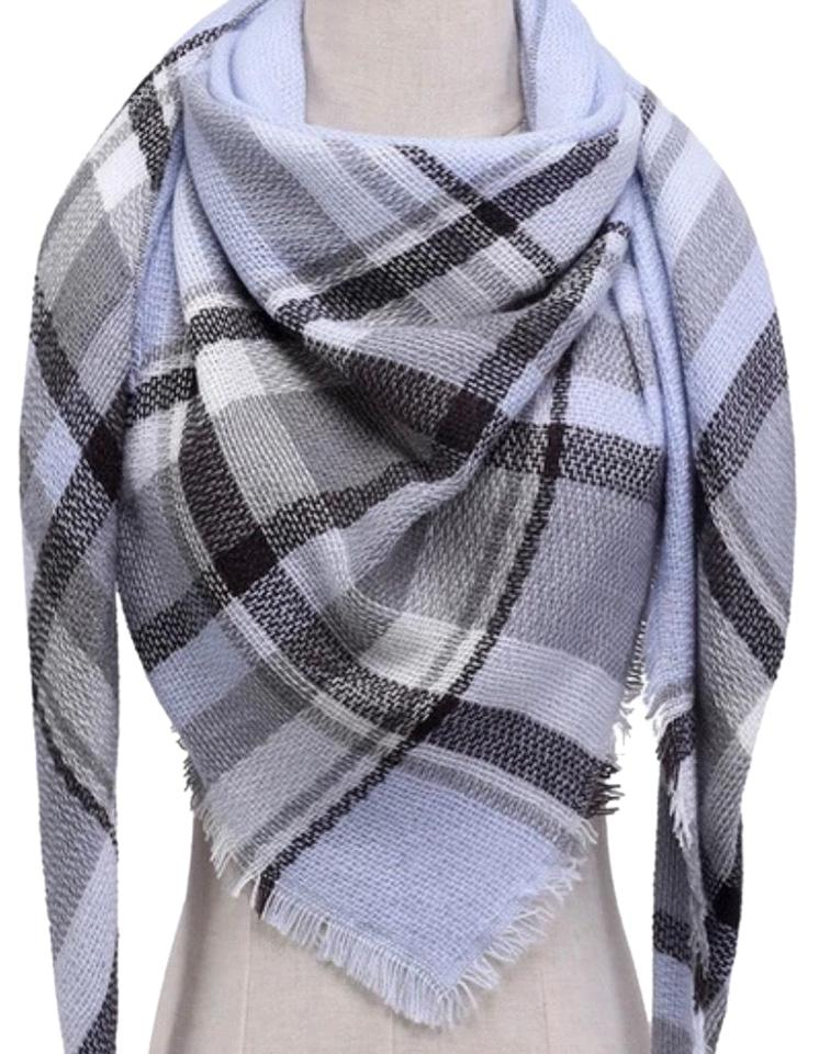 4de03bf9fe0a0 Other Casual Winter Scarf Women Scarf Plaid Cashmere Blended Lady Scarves  Woman ...