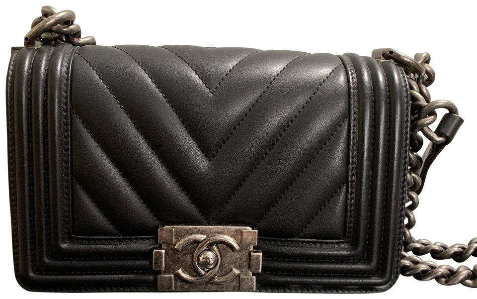f440769f1f44 Chanel Boy Small Chevron Calfskin Leather Cross Body Bag - Tradesy