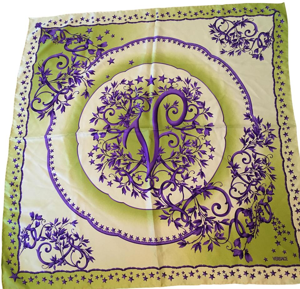 Versace White Lime Green and Violet