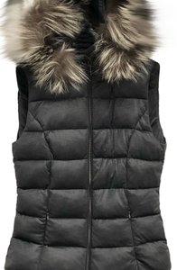 Post Card Fur Quilted Fitted Vest