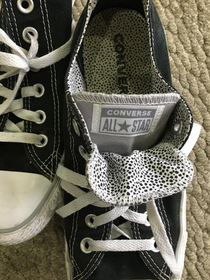 b8a6fddeb413a9 Converse Black All Star Sneakers. Size  US 10 Regular (M ...
