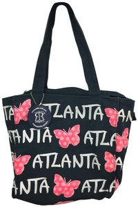 Robin Ruth Atlanta Butterflies Canvas Tote in Black, White, Pink