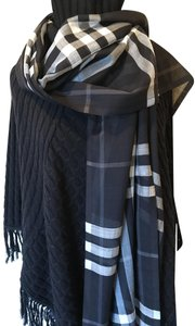 Burberry Burberry giant check wool/silk scarf