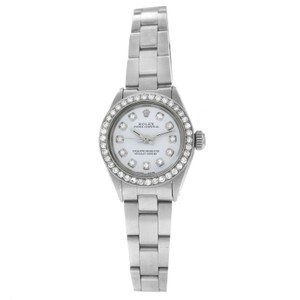 Rolex Ladies Rolex Oyster Perpetual 6718 Stainless Steel Diamond 25MM