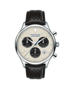 Movado Heritage Chronograph Men's Leather Watch
