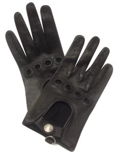 Hermès Hermes Women's Leather Driving Gloves Brown Size 8 Fits Small - Medium