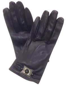 Hermès Hermes Women's Leather Gloves Size 8 Fits Small To Medium Purple