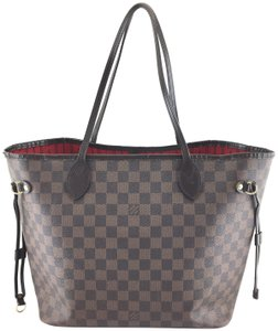Louis Vuitton Lv Damier Neverfull Mm Tote in Brown