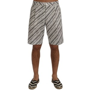 Dolce&Gabbana White / Black D60404-2 / Striped Casual Shorts (It 46 / S) Groomsman Gift