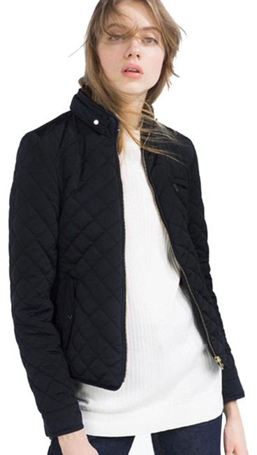 Preload https://item1.tradesy.com/images/zara-black-quilted-contrast-knit-puffer-jacket-coat-size-4-s-24486325-0-1.jpg?width=400&height=650