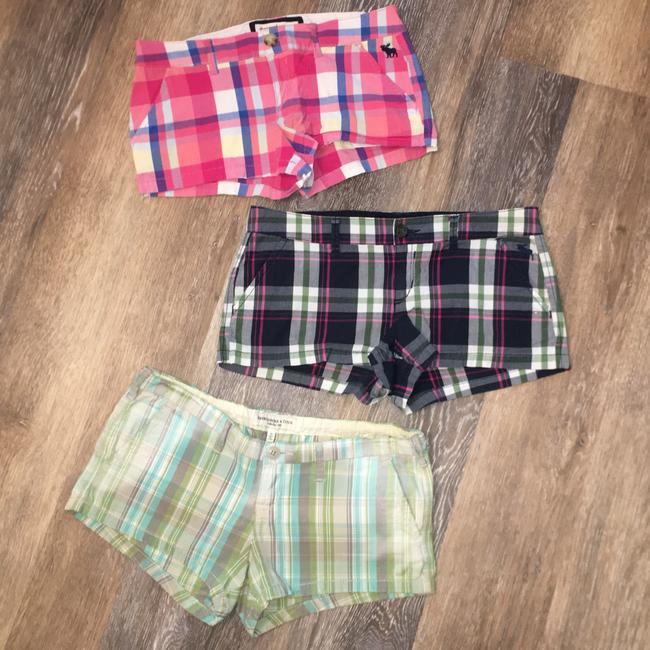 Abercrombie & Fitch Beach Golf Checkered Mini/Short Shorts Plaid