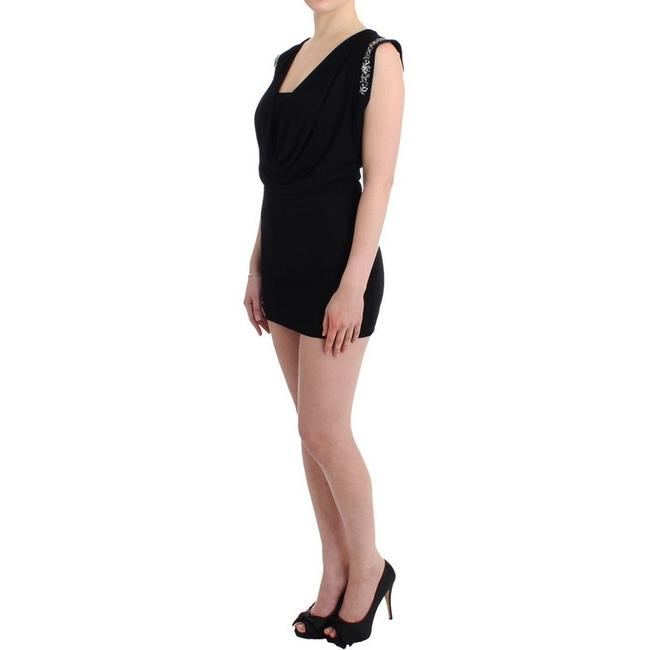 Roccobarocco short dress Black / Silver D11565-2 Women's Embellished Sheath on Tradesy