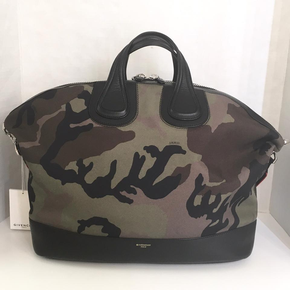 67d84afa70 Givenchy Nightingale Camouflage Multicolor Canvas Weekend Travel Bag ...