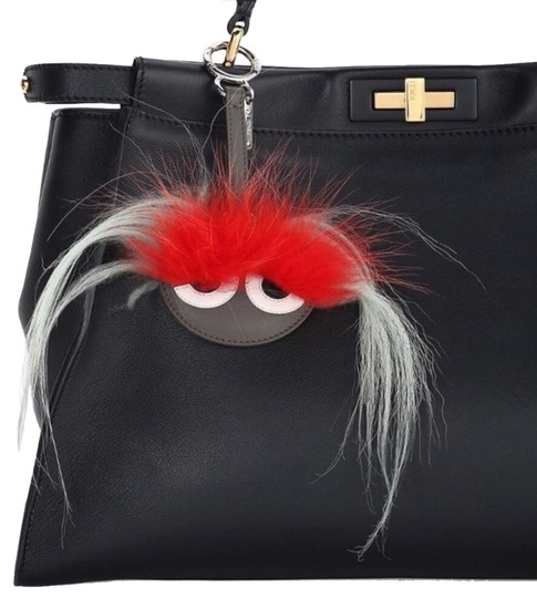 Preload https://img-static.tradesy.com/item/24486406/fendi-black-red-new-o-mirror-bug-bag-charm-0-1-540-540.jpg