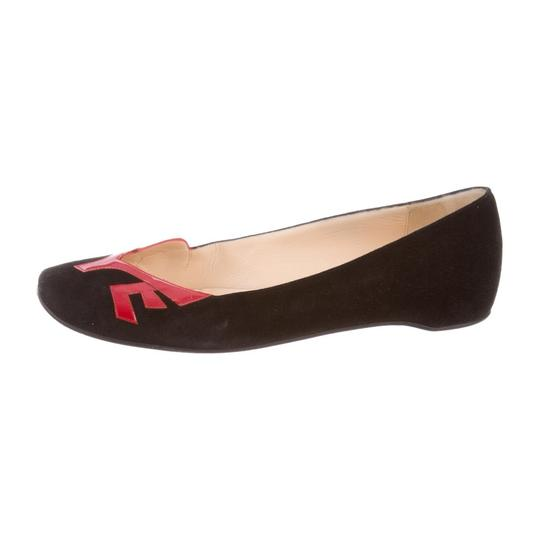Christian Louboutin black/red Flats