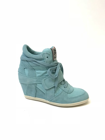Ash Bowie Suede Turquoise Wedges