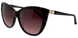 Swarovski SK0117-52F-57 Cat Eye Women's Tortoise Frame Brown Lens Sunglasses