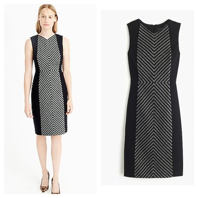 Preload https://img-static.tradesy.com/item/24486451/jcrew-grayblack-striped-tweed-sheath-mid-length-workoffice-dress-size-6-s-0-0-650-650.jpg