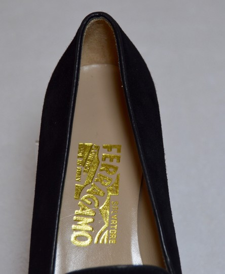 Salvatore Ferragamo Narrow Comfortable Low Heel New Black Flats