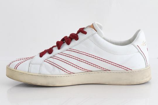 Louis Vuitton White Low-top Red Trim Trainer Sneakers Shoes