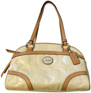 Coach 1941 Satchel in Cream with tan trim