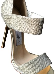 Jimmy Choo Heels Gold Sandals