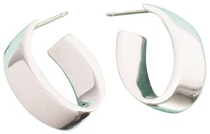 Tiffany & Co. Tiffany & Co Rare Hoop Earrings Sterling Silver