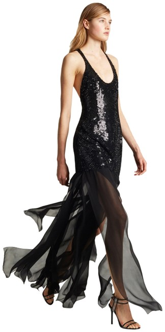 Item - Embellished Black Sexy Gown Long Cocktail Dress Size 2 (XS)