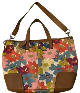 Coach 1941 Tote in Multi with tan trim