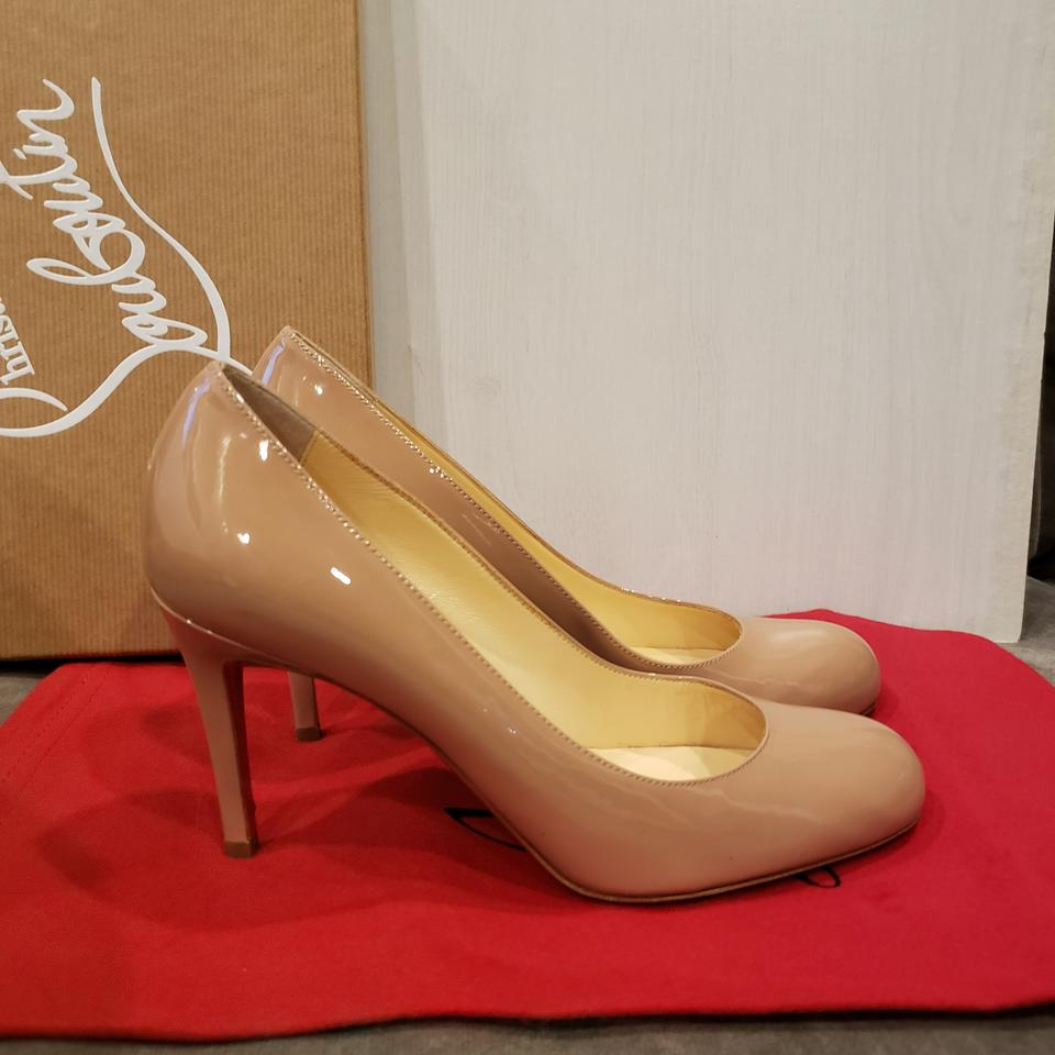 61545a87f26 Christian Louboutin Nude Simple 85 Patent Leather Heels Pumps Size EU 36  (Approx. US 6) Regular (M, B) 12% off retail