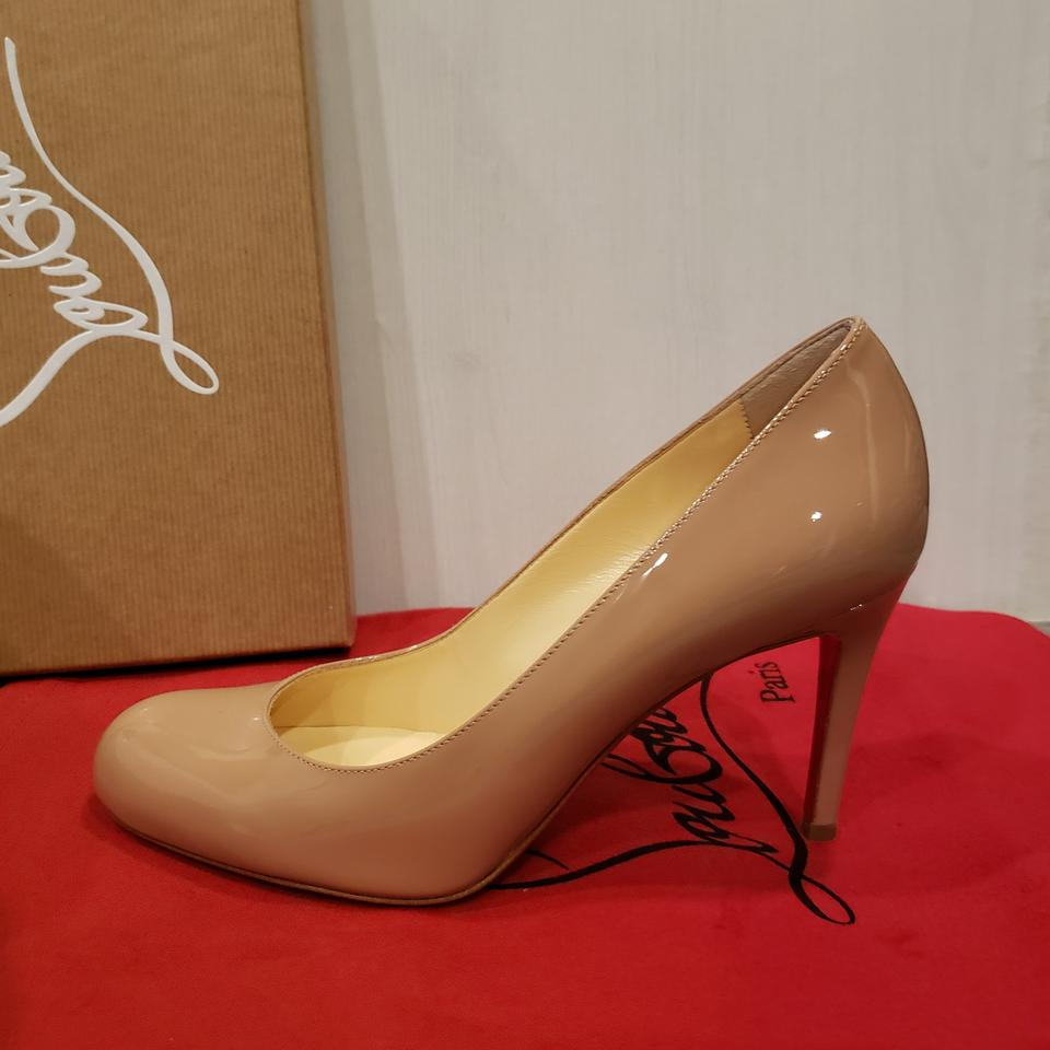 78c545ae654 Christian Louboutin Nude Simple 85 Patent Leather Heels Pumps Size EU 36  (Approx. US 6) Regular (M, B) 12% off retail
