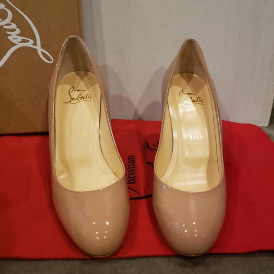 Christian Louboutin Heels Simple Leather Nude Pumps