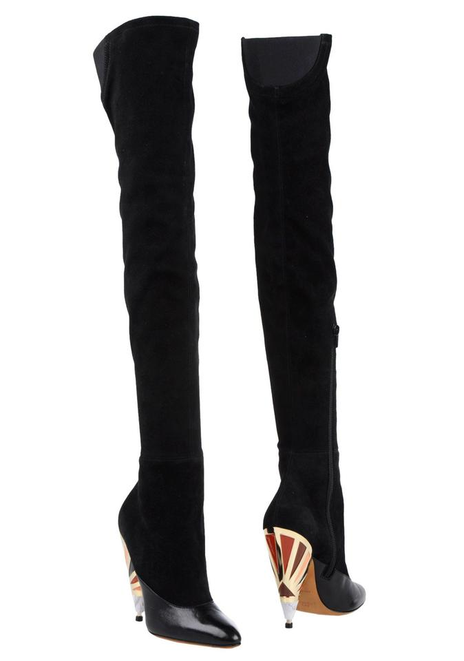 3b389c6ce38 Givenchy Black Cuissard Pointed-toe Over-the-knee Boots/Booties Size EU 40  (Approx. US 10) Regular (M, B)