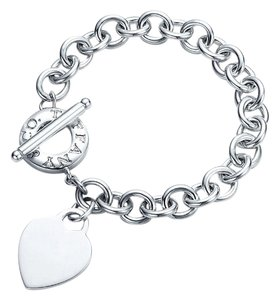 Tiffany & Co. Heart and Toggle Sterling Bracelet