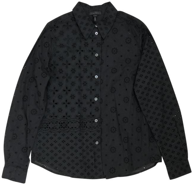Preload https://img-static.tradesy.com/item/24486586/marc-jacobs-black-embroidered-eyelets-floral-long-sleeve-cotton-blouse-m4006783-button-down-top-size-0-1-650-650.jpg