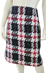 Nouveaux Straight Fashion Skirt red black white