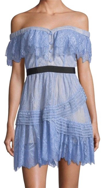 Preload https://img-static.tradesy.com/item/24486670/self-portrait-blue-lace-embroidered-shift-short-cocktail-dress-size-4-s-0-1-650-650.jpg