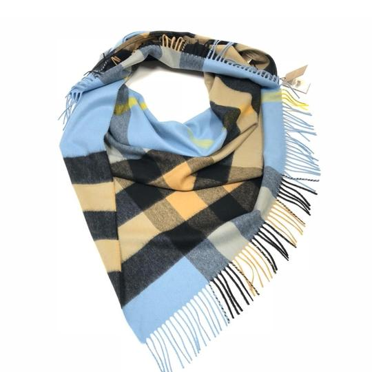 Preload https://img-static.tradesy.com/item/24486679/burberry-pale-carbon-blue-bandana-in-check-cashmere-scarfwrap-0-0-540-540.jpg