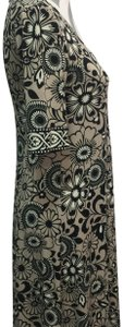 Donna Morgan short dress Tan, Black & White Floral Print Stretchy on Tradesy