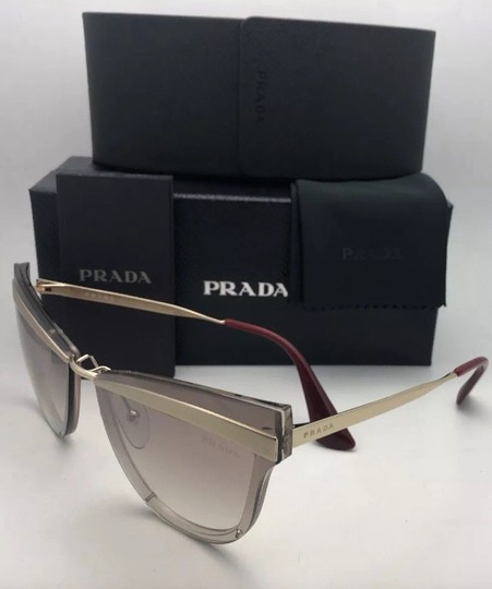 Prada New PRADA Sunglasses CATWALK SPR 12U KNG-4O0 Beige Marrone Chiaro Gold