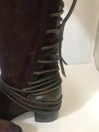 FREEBIRD by Steven Coal Coal Suede Wine Red Boots