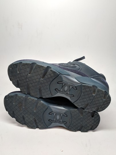 Chanel Suede Trainers Sneakers Navy Athletic
