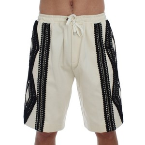 Dolce&Gabbana White / Black D10020-3 Torero Above Knees Shorts (It 48 / M) Groomsman Gift